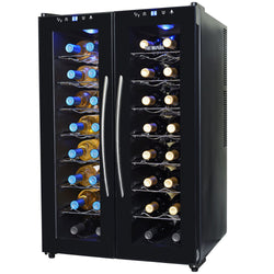 NewAir 32-Bottle Black Dual Zone Wine Cooler | AW-320ED