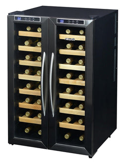Remanufactured NewAir 32-Bottle Stainless Steel Dual Zone Wine Cooler