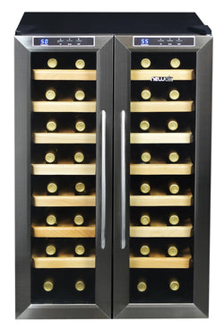 Remanufactured NewAir 32-Bottle Stainless Steel Dual Zone Wine Cooler - NewAir