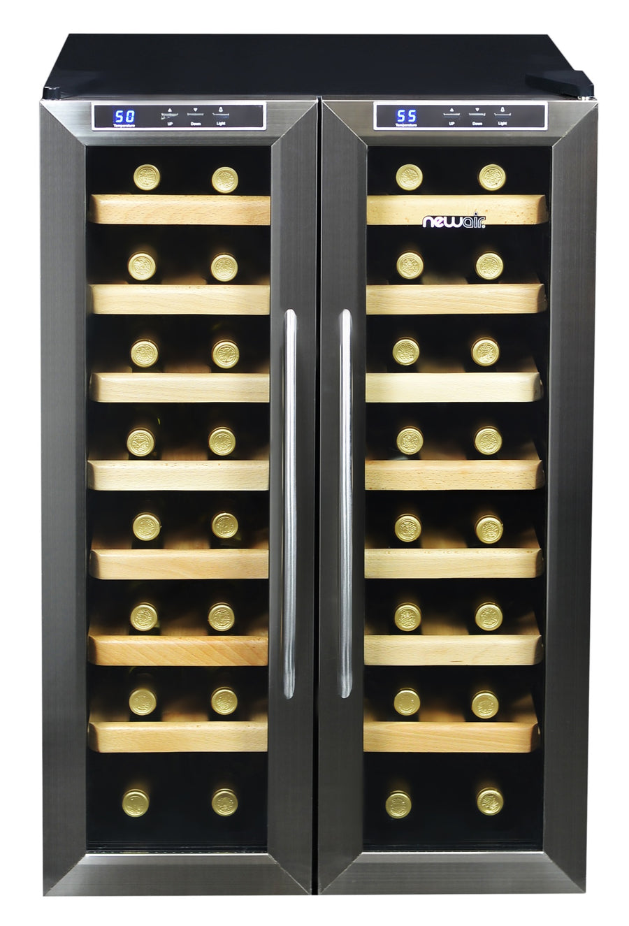 Newair Aw 321ed 32 Bottle Wine Fridge Stainless Steel Dual Zone