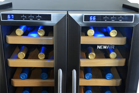 NewAir 32-Bottle Stainless Steel Dual Zone Wine Cooler