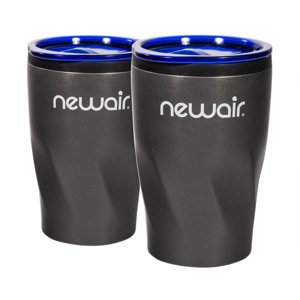 Pair of Insulated Blue Beverage Tumblers | 12 oz