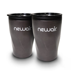 Pair of Insulated Black Beverage Tumblers | 12 oz