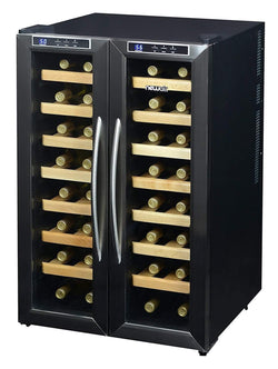 Blemished NewAir 32-Bottle Stainless Steel Dual Zone Wine Cooler