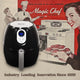 Magic Chef® 2.6 Quart Snack-Sized Compact Digital Air Fryer with Dishwasher Safe Basket