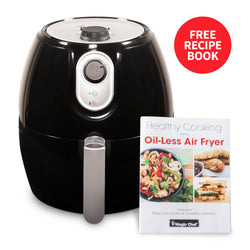 Magic Chef® 2.6 Quart Snack-Sized Compact Manual Air Fryer with Dishwasher Safe Basket