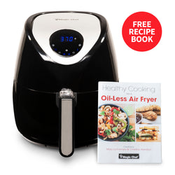 Magic Chef® 3.7 Quart Digital Air Fryer, Healthy Cooking, Dishwasher Safe Basket with Free Recipe Book