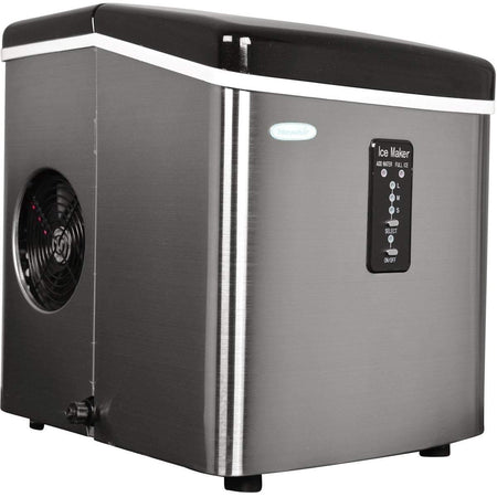 NewAir Ice Makers Stainless Steel NewAir 28 lbs. Portable Ice Maker | AI-100BC
