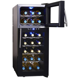 NewAir Wine Coolers NewAir 21-Bottle Dual Zone Thermoelectric Wine Cooler | AW-210ED