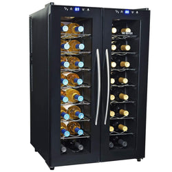 NewAir Wine Coolers NewAir 32-Bottle Black Dual Zone Wine Cooler | AW-320ED