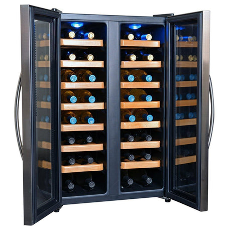 NewAir Wine Coolers NewAir 32-Bottle Stainless Steel Dual Zone Wine Cooler | AW-321ED