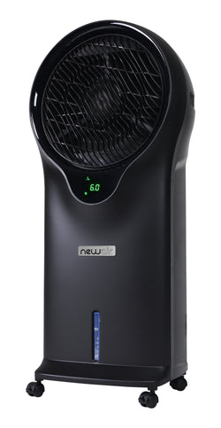 Newair 2-in-1 Evaporative Cooler and Fan in Black, 250 sq. ft. with 3 Fan Speeds and Removable Water Tank