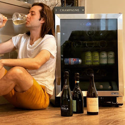"NewAir FlipShelf™ 24"" 162 Can or 54 Bottle, Built-in or Freestanding Wine and Beverage Fridge with Reversible Shelves"