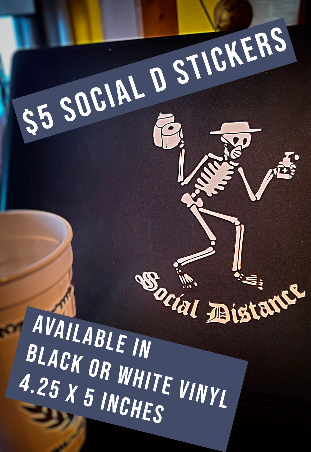 Social Distance Vinyl Stickers