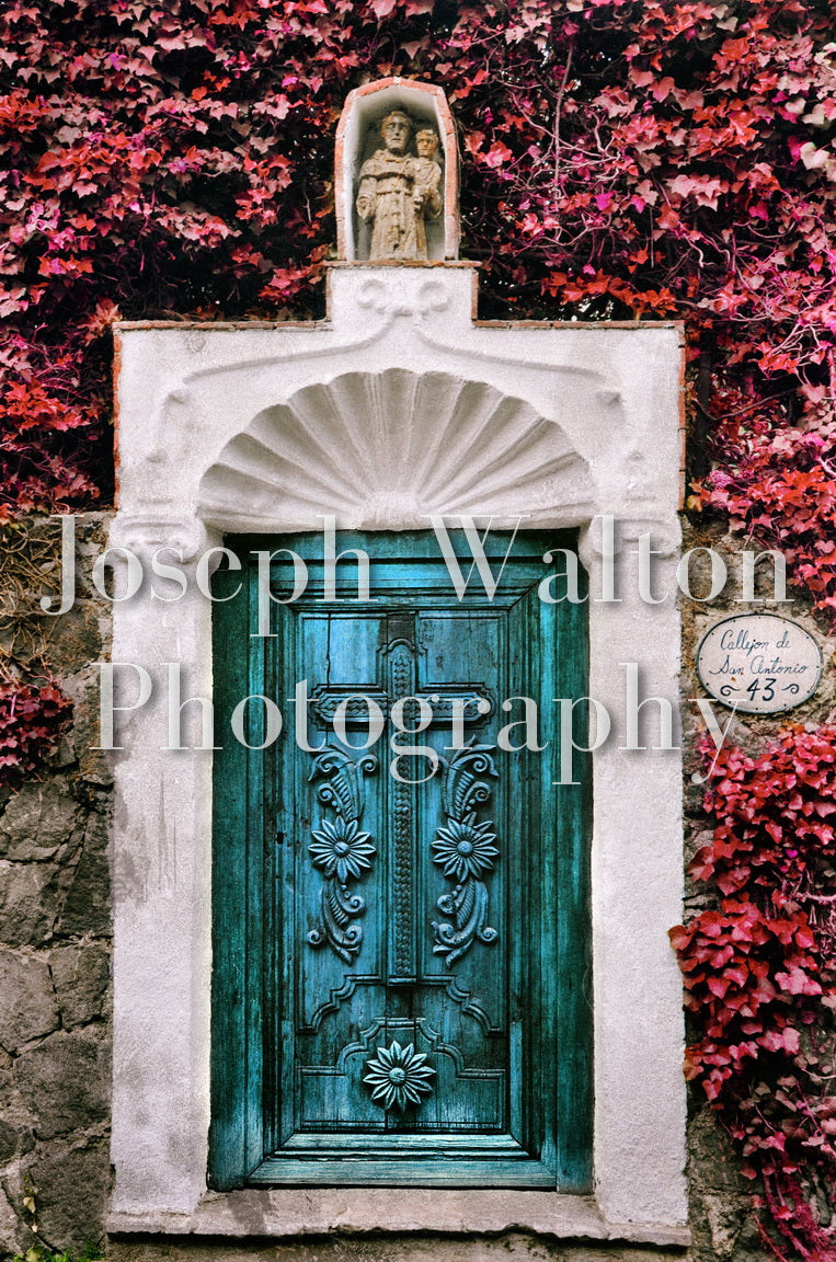 Mexico City Door With Cross