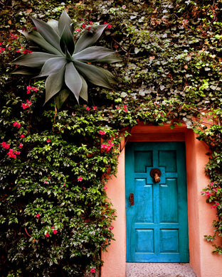 Mexico City Blue door