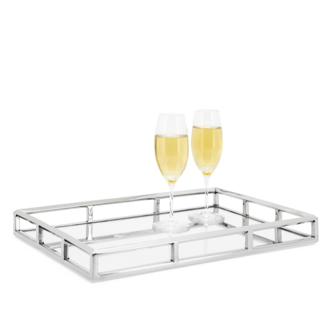 Lux Angle Edge SS Tray Rectangle