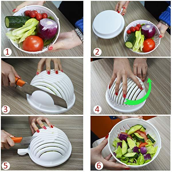60 Second Quick Chop Salad Bowl - Shoperster
