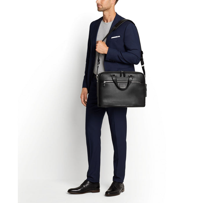 Tumi Ashton Gibson Slim Brief Leather