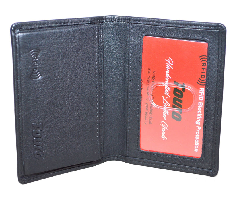 Touro Signature Leather Wallets Pebble Grain Gusset Card