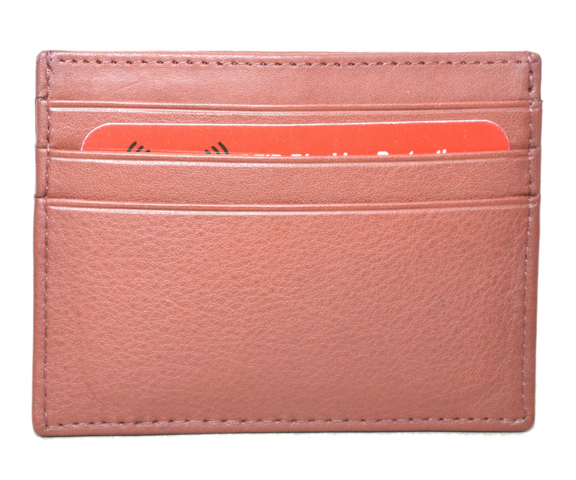 Touro Signature Leather Wallets Pebble Grain Credit Case