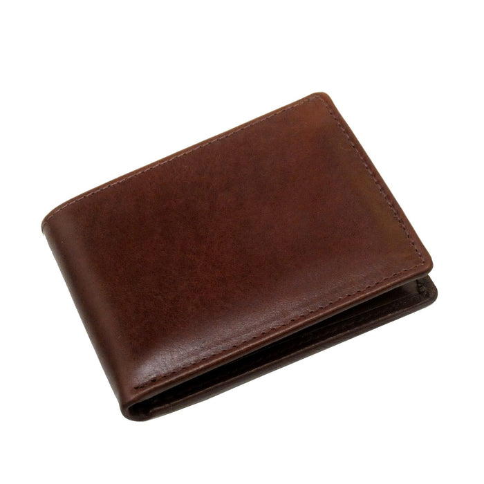 Touro Signature Leather Wallets Veg Tanned Slim ID Wallet