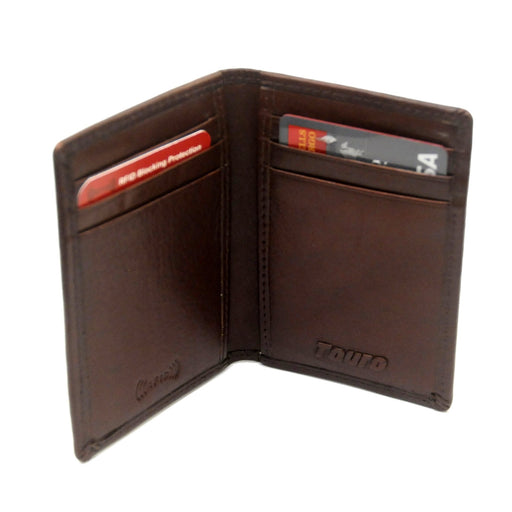 Touro Signature Leather Wallets Veg Tanned Credit Card Case