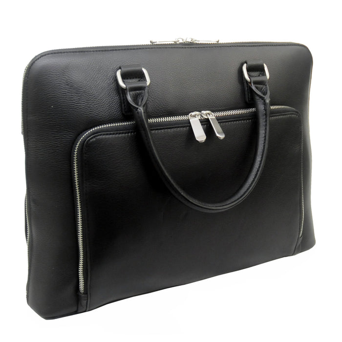 Touro Signature Leather Front Pocket Laptop Brief