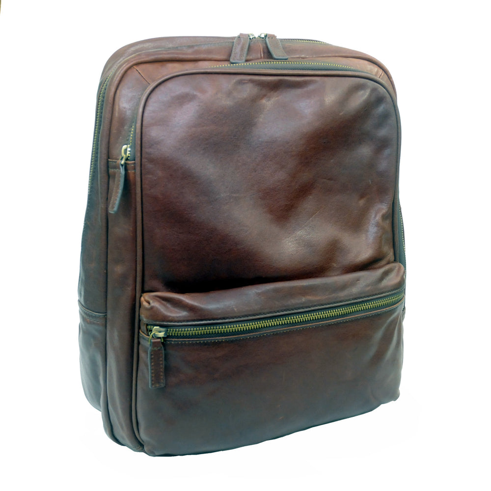 Touro Signature Leather Laptop Backpack