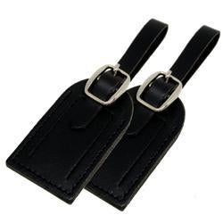 Voltage Valet - Leather ID Luggage Tags - 2 Pack