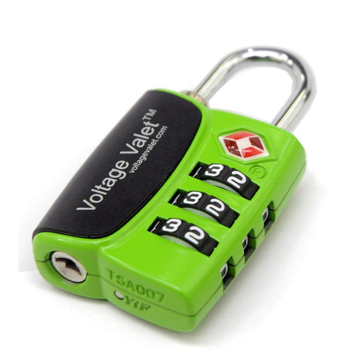Voltage Valet - 3 Dial TSA Indicator Combination Lock