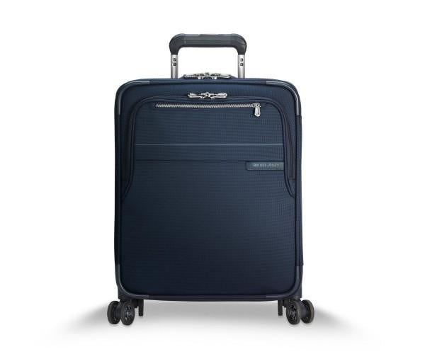 Briggs & Riley Baseline International Carry-On Expandable Wide-Body Spinner Navy