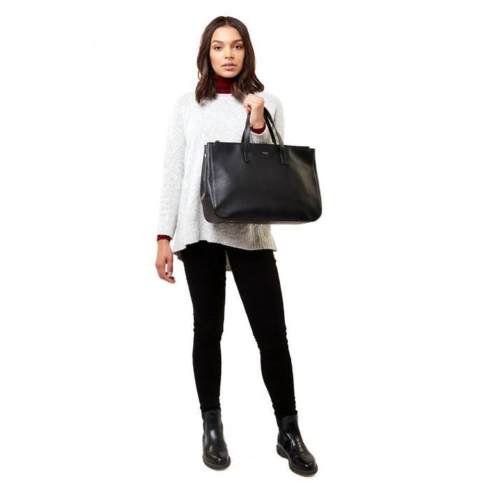 Knomo Mayfair Luxe Derby Tote – 13""