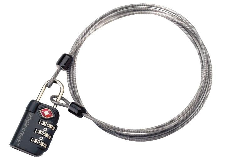 Eagle Creek Travel Security TSA 3-Dial Lock & Cable