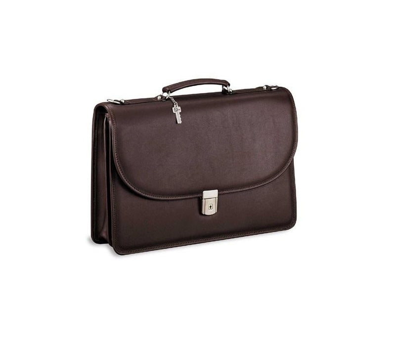 Jack Georges Dble Gusset Flap W Key Lock One Size Brown