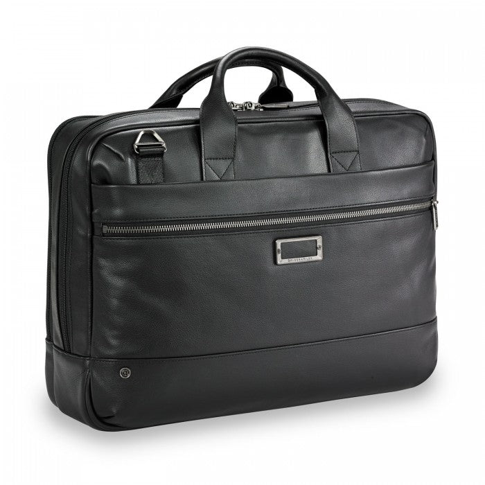 Briggs & Riley @work Leather Medium Brief