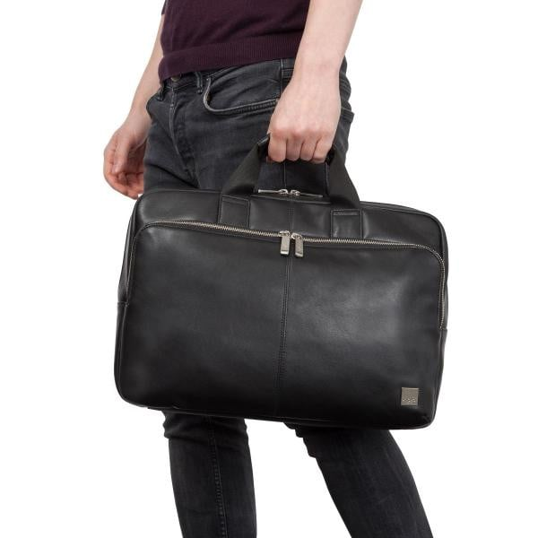 Knomo Brompton Classic Newbury Leather Laptop Briefcase - 15""