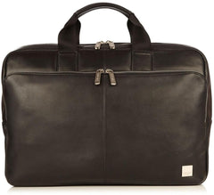 Knomo Newbury Leather Zip Briefcase 15