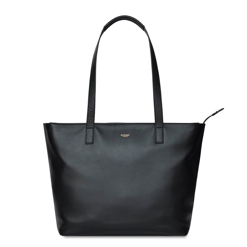 Knomo Mayfair Luxe Mini Maddox Leather Laptop Tote Bag – 13""