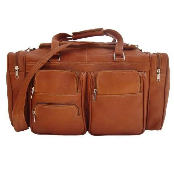 Piel 20in Duffel Bag with Pockets Piel Saddle