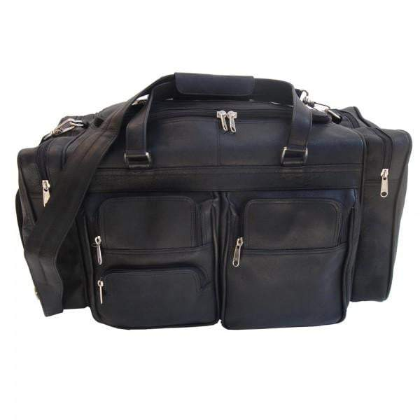 Piel 20in Duffel Bag with Pockets Piel Black