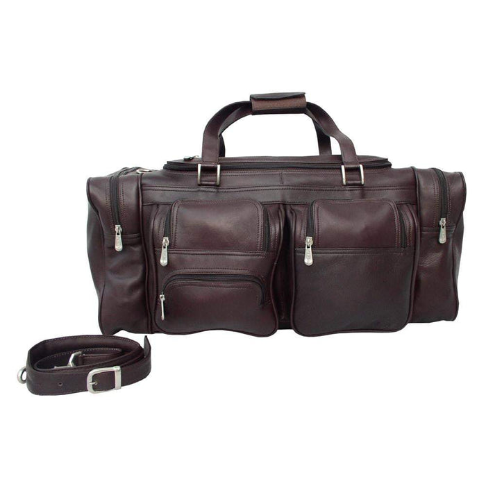 Piel 24in Duffel with Pockets Piel Chocolate