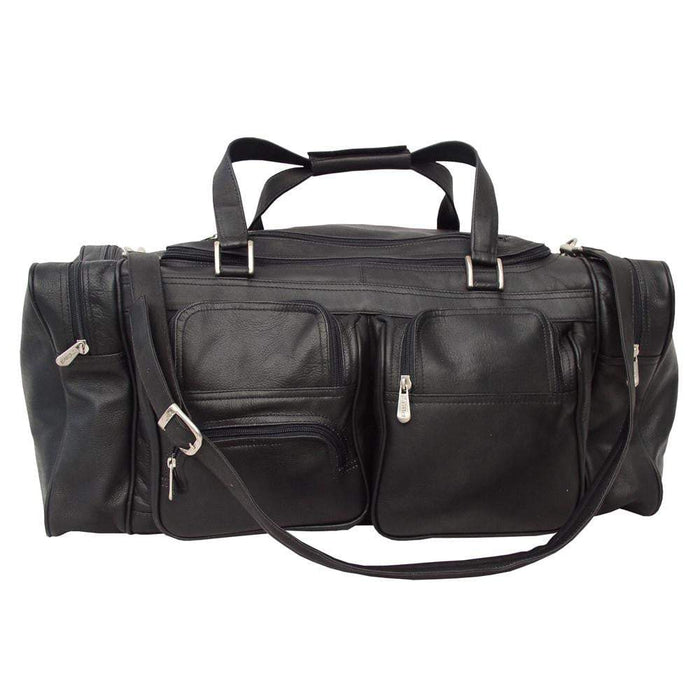 Piel 24in Duffel with Pockets Piel Black