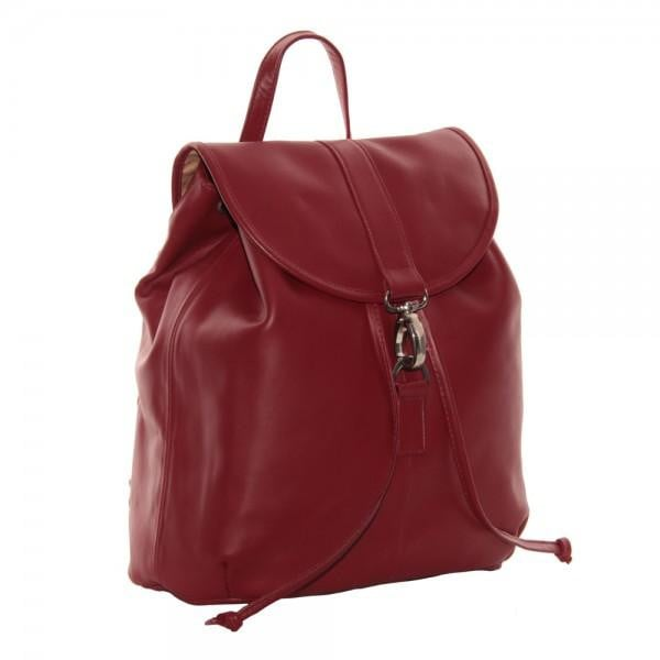 Piel Medium Drawstring Backpack