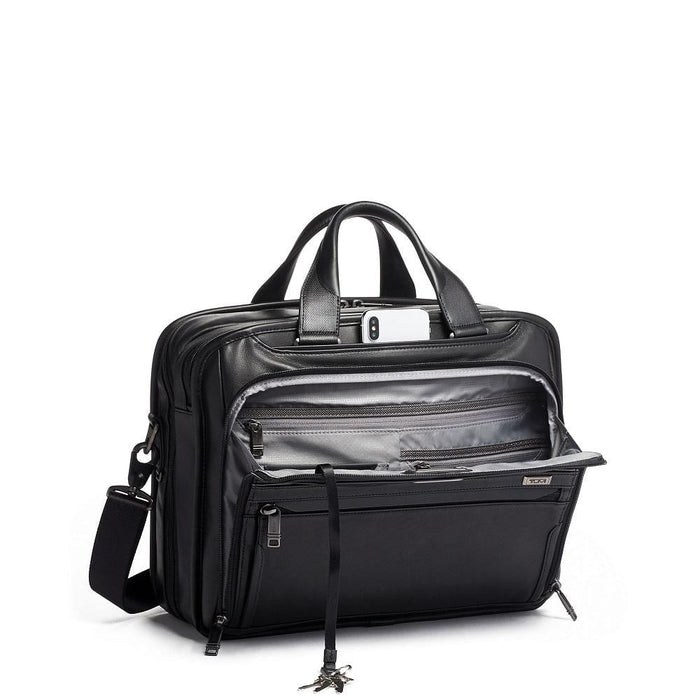 Tumi Alpha 3 Organizer Brief Leather