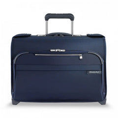 Briggs & Riley Baseline Carry-On Wheeled Garment Bag Navy