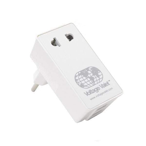 Voltage Valet Adaptor Plug with 2 Port USB - Continental Europe - PBU