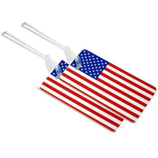Voltage Valet Luggage Tag - US Flag, 2 Pack