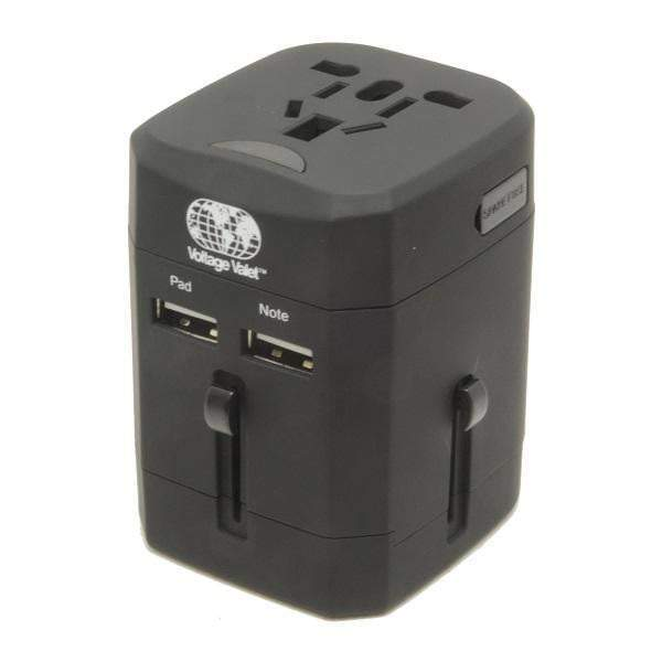 Voltage Valet Universal Travel Adaptor with 2 Port USB and Pouch - UTA