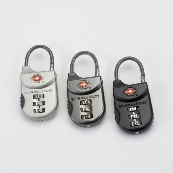 Briggs & Riley Travel Basics Metal TSA Cable Luggage Lock